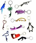 Bottle Opener Keyrings Metal Colour Keychain Mixed Designs Stocking Filler Xmas