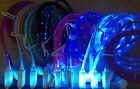 Lot LED EL LIGHT 3ft glow data sync charger cables FOR apple iphone 4 4s ipod 6