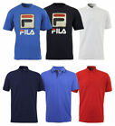 New Mens Fila Jersey Cotton Button Up Logo Polo T-Shirt Top Casual Size S-3XL