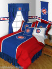 Chicago Cubs Comforter Bedskirt Sham Pillowcase Valance Twin to King Sets