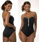 MIRACLESUIT BANDEAU MIRACLE BLACK BATHERS SUIT 16 18 SWIMMERS SWIMMING COSTUME