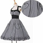 Summer SALE~Vintage Retro 1950's Rockabilly Housewife Pinup Swing Evening Dress