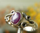 silver ruby - Ruby Sterling Silver Ring Faceted Gemstone Made in India Sweet design