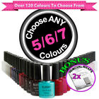 Set of 5/6/7 Bluesky Soak Off Gel Polish + Removal Wraps
