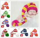 Christmas Cute Baby Newborn Toddler Boy Hat Cap Beanie Crochet Knit Long Tai WWU