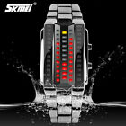 Hot Fashion SKMEI Rectangle Zinc Alloy Red LED Electronic Men Sport Wrist Watch