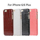 Retro Crocodile Grid PU Leather Back Case Cover for 4.7 iPhone 6 Plus 5.5
