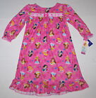 Nwt New Disney 4 Princess Flannel Granny Nightgown Pajamas Pink Nice Cute Girl