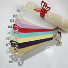 Butterfiy Paper Napkin Ring Wedding Party Favor Banquet Decoration 9 Colors