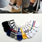 Men Classic South Korean Hot Cotton Casual Sports Socks Two Bars Socks 1 Pairs