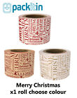 MERRY CHRISTMAS paper wraps, belly band, wrapping paper x 1 roll CHOOSE COLOUR