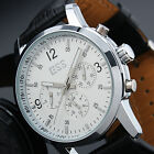 ESS Mens Mechanical Date Day Black Automatic White Dress Sport Mans Wrist Watch
