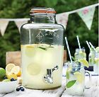 5 & 8 Litre Large Kilner Clip Top Storage Drink Wine Beverage Dispenser Jar Tap