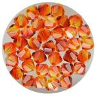 Genuine Swarovski Fire Opal Bicone Crystal Beads