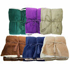 "50""x60"" Thick Plush wool Soft Reversible Soild Color Micro Fleece Throw Blanket image"