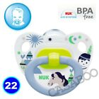 NUK Baby Dummy Pacifier teat / nipple soother Very Colorful free BPA many design