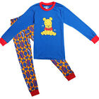 NEW Blue Cartoon Bear Pajamas Boys Tops Shirt Legging Set Kids Sleepwear 1-8Y