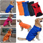 WATERPROOF DOG PUPPY OUTDOOR COAT JACKET FLEECE LINED REFLECTIVE PIPING SAFE
