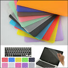 "3in1 Rubberized Matt Case Cover Skin for MacBook Air White Pro 11"" 13 15"" Retina"