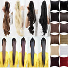 100% Mega thick Claw Clip In Ponytail Hair Extension 40 sexy color selection A08