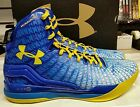 UNDER ARMOUR STEPHEN CURRY PE CLUTCHFIT DRIVE MID BLUE GOLDEN STATE WARRIORS