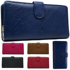 Ladies Faux Leather Stylish Bifold Long Coin Purse Womens Wallet Card Holder