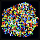 Lots mixed color glass charm spacer beads Jewelry Finding Design 4mm