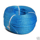 Blue Poly Rope Coils Polypropylene Polyrope Events Gardening Camping Fencing 30m