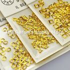 100PCS Gold Silver Nail art Rhinestones Decoration Tools Square Triangle Circle