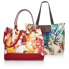 Sharif Floral Print Saffiano Leather Satchel with Foldable Tote NWT pick color