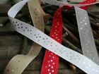 Star Trim Ribbon, Gold and Silver Stars Ribbon, By the Metre, 4 Colours, 25mm