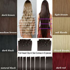 US Post 8 Piece Full Head Clip In Hair Extension Extensions Real Natural Looking