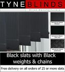 From only £1.25 BLACK Vertical blinds SLATS with BLACK bottom weights and chains