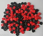 20/50/ 100 x Resin Flat Back Flower Cabochons Rose  10mm Choose Colours  NO HOLE