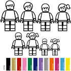 LEGO MOVIE MEGA BLOCK FAMILY KING SIZE FIGURES VINYL STICKERS DECAL (LFS-01)