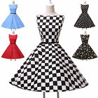 Mother of Bride Short Vintage 50's Rockabilly Retro Housewife Swing Pinup Dress
