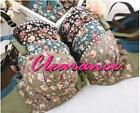 Cotton Floral Molded Cup Push Up Bra Set Panty  AU8A-12B 50% Off Clearance