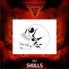 Airbrush stencil template DELTAARTS SKULL 1 -  4 SIZES AVAILABLE MINI MID
