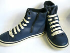 CROCS BOYS LACE UP AND ZIP NAVY AND WHITE CASUAL HIGH TOPS - HOVER L HIGH KIDS