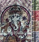 5 Colour GANESH Meditation HINDU Hippy THROW Sofa BEDSPREAD Wall hanging SINGLE