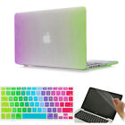 """3item Rainbow Rubberized Matte Hard Case Cover for Macbook Air Pro 11"""" 13"""" 15"""""""
