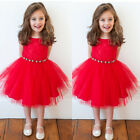 Baby Girls Dress Cute Red Princess Dresses Kids Toddler Skirts Tutu Dress Mini