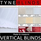 ***From £18*** VERTICAL BLINDS - white headrail with 89mm slats inc washable