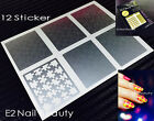 Puzzle Print Funny Nail Stencils Guide Vinyl Decal Sticker FREE SHIPPING