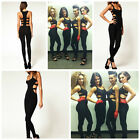 Celebrity Style Cut Sides Dance Unitard Jumpsuit Size 6,8,10,12UK/AUS) 2,4,6,8US