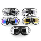 Vintage Pilot Motorcycle Biker MX ATV  Riding Padded Goggles Sun-Glasses 5 Lens