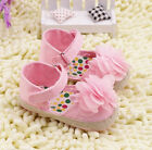 Pink Mary Jane Toddler Baby Girl  Flowers Walking Shoes Newborn to 18 Months