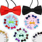 Men Boys Kids Childrens Pre Tied Satin Wedding Party Bow Ties Bowtie -Adjustable