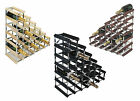 RTA 27 Bottle Under The Stairs Traditional Wooden Wine Rack Natural Dark Black