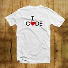 I Love Code- Whozhigh-Round neck-100% Cotton